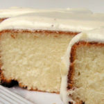 White Cake with Vanilla Buttercream Frosting